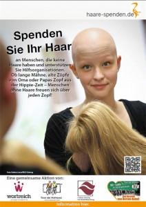 Haare schneiden für einen guten Zweck – Haarspendeaktion für krebskranke Menschen am 18.10.2015 im wortreich.