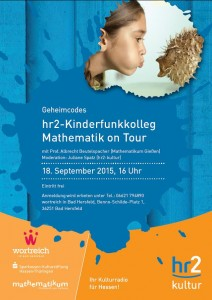 "Am 18. September im wortreich: ""hr2-Kinderfunkkolleg Mathematik on Tour"""
