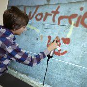 Erlebnis wortreich! Graffiti-Wand